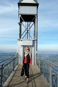 In front of Hammetschwand Elevator.