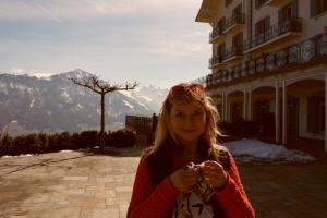 In front of Hotel Villa Hotel Villa Hoenegg